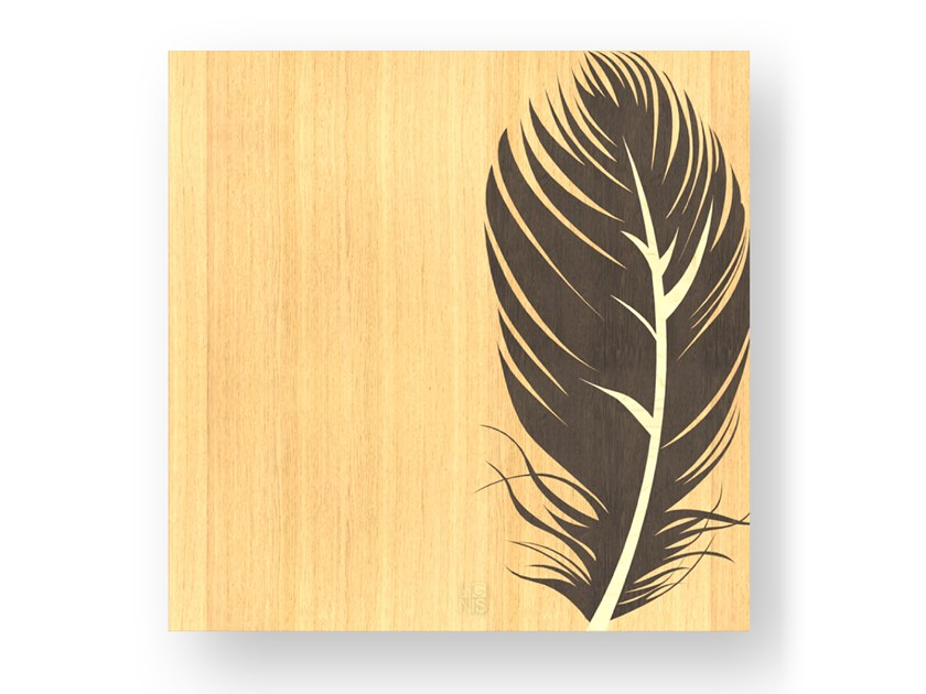 Wooden Decorative panel PLUME WARM by LIGNIS®