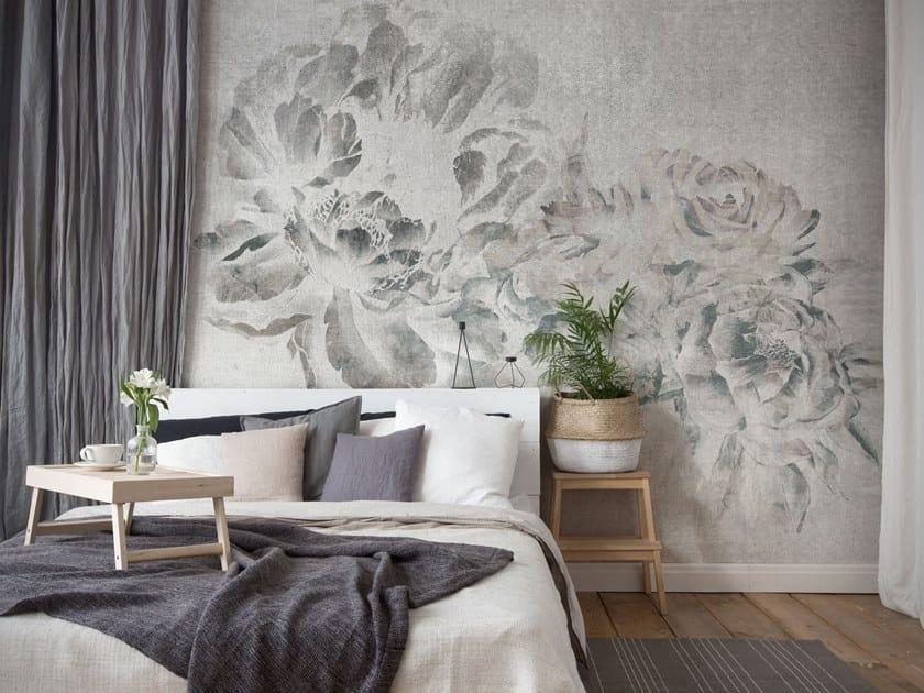Fire retardant waterproof wallpaper with floral pattern PLUMIER by Tecnografica Italian Wallcoverings
