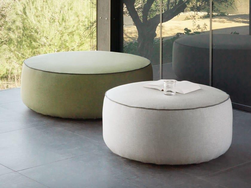Round fabric garden pouf PLUMP | Round garden pouf by EXPORMIM