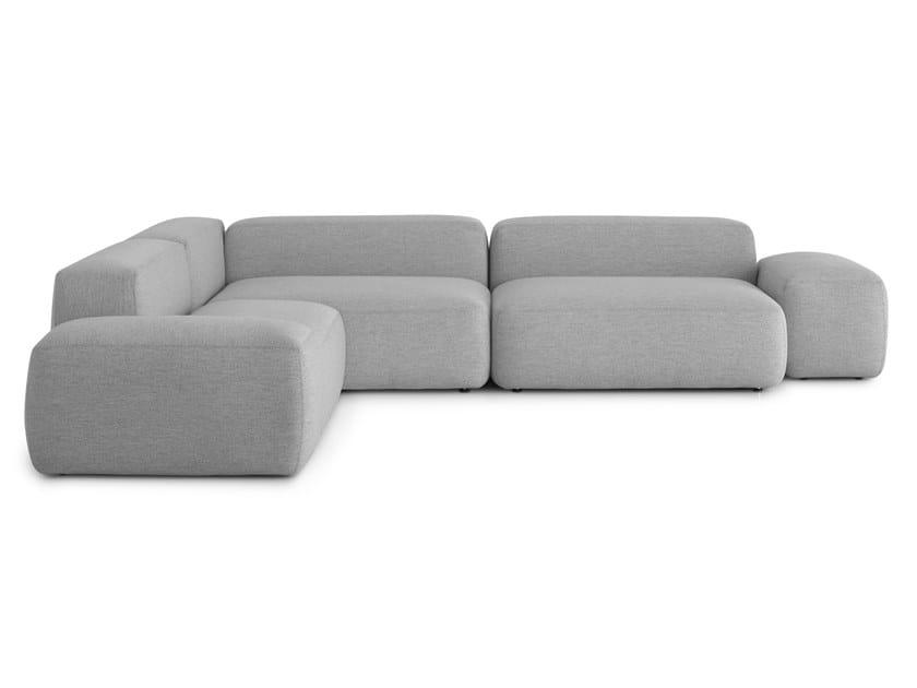 Corner modular fabric sofa with removable cover PLUS | Corner sofa by Lapalma