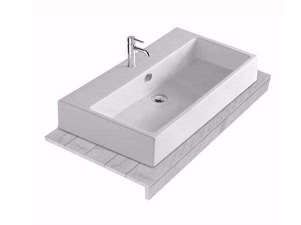 Larch washbasin countertop PLUS DESIGN 120 | Washbasin countertop by GALASSIA