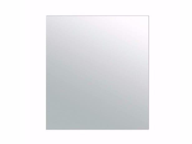 Rectangular wall-mounted bathroom mirror PLUS DESIGN 90 X 100   Mirror by GALASSIA