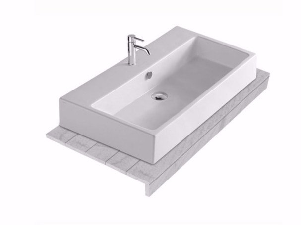 Larch washbasin countertop PLUS DESIGN 95 | Washbasin countertop by GALASSIA