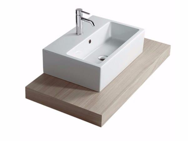 Wooden washbasin countertop PLUS DESIGN 98 | Washbasin countertop by GALASSIA