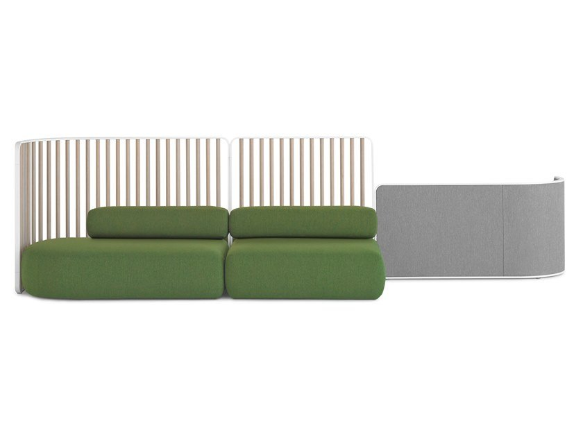 Modular fabric sofa with removable cover PLUS | Modular sofa by Lapalma