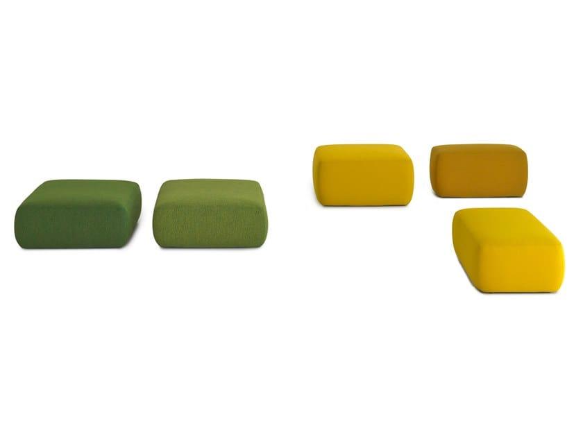 Fabric pouf with fire retardant padding PLUS | Pouf by Lapalma