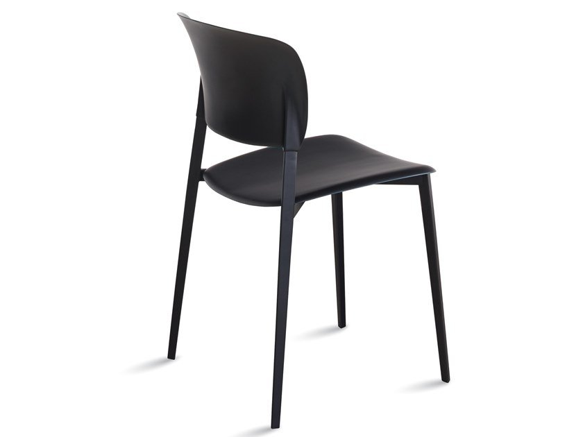 Open back stackable polypropylene chair PLY | Stackable chair by Desalto