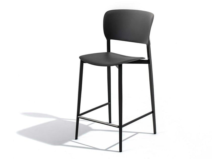High polypropylene stool with back PLY | Stool by Desalto