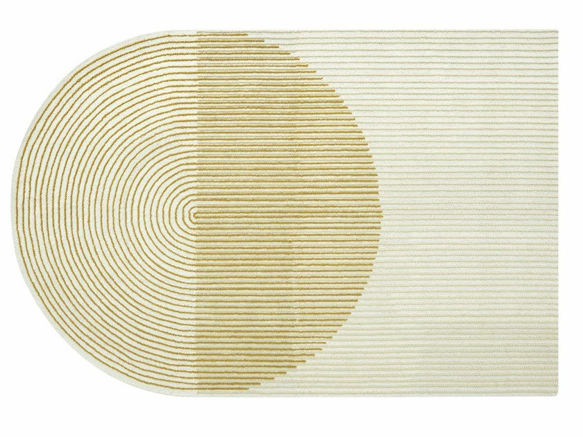 Wool rug PLY YELLOW by GAN