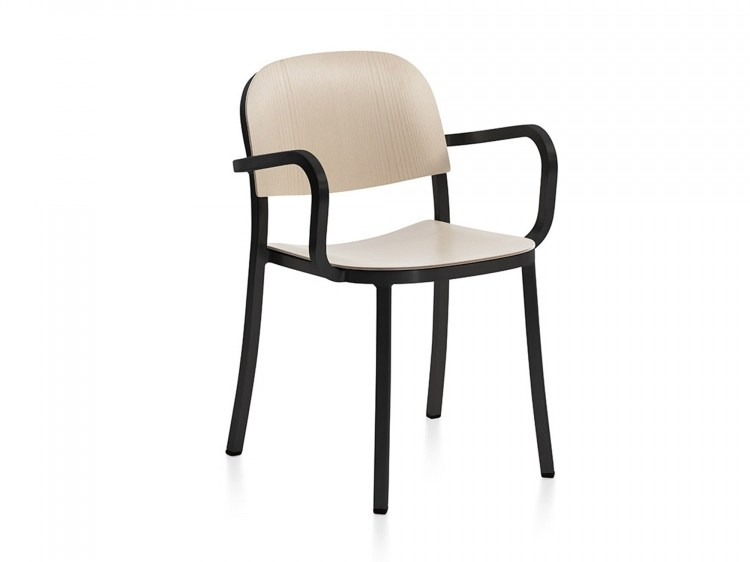 Plywood chair with armrests 1 INCH | Chair with armrests by Emeco