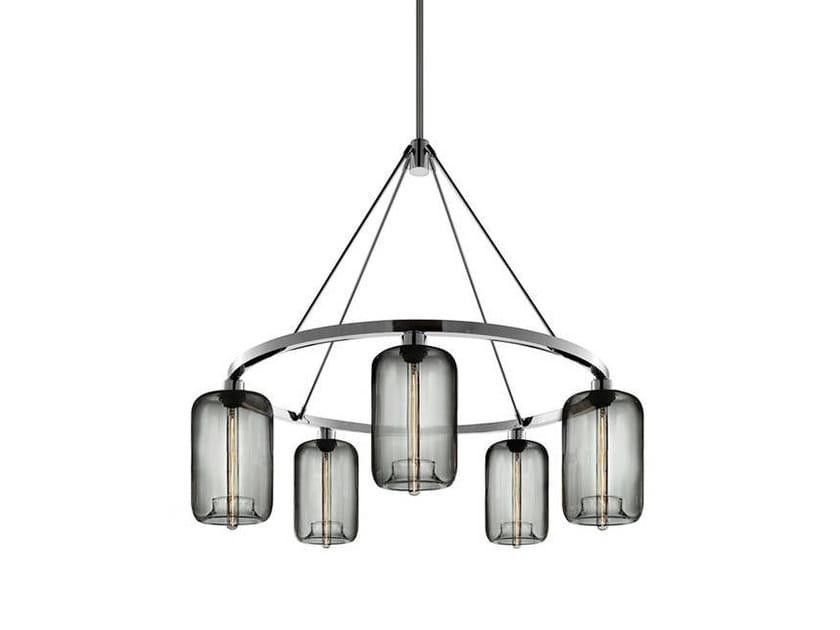 Lampadario a LED in vetro soffiato POD | Lampadario by Niche Modern