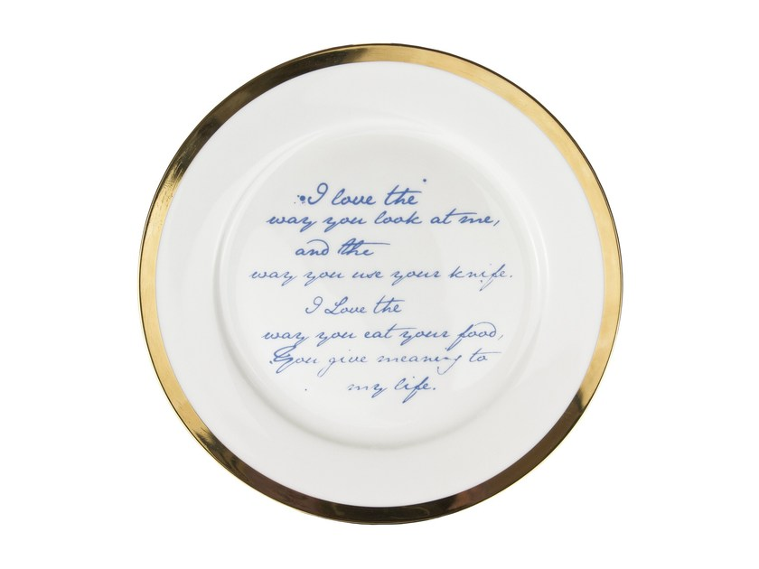 Porcelain plate POETRY PLATES by Mineheart