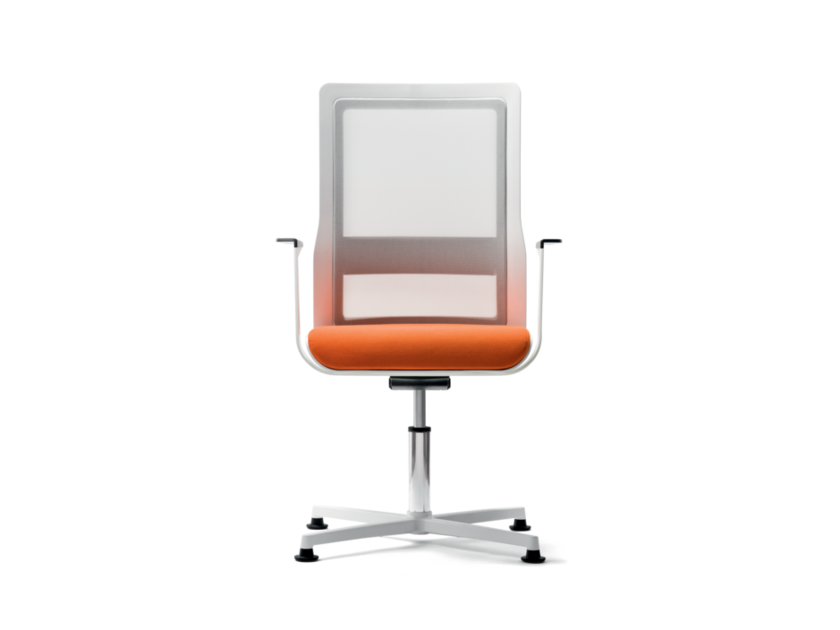 Swivel fabric task chair with 4-Spoke base with armrests POI | Task chair with 4-Spoke base by Wiesner-Hager