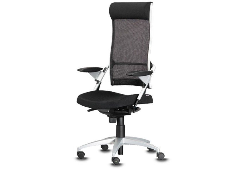 Swivel task chair with 5-Spoke base with armrests POINT | Swivel task chair by Wiesner-Hager