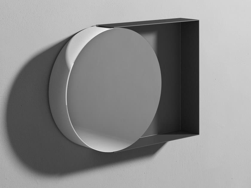 Specchio rotondo con cornice da parete POIS by Rexa Design