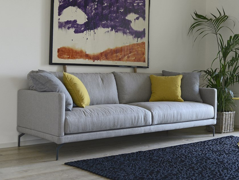 Fabric sofa with removable cover POKER by Gobbo Salotti