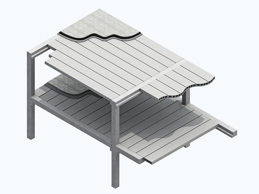 Prefabricated reinforced concrete slab POKER by MANINI PREFABBRICATI