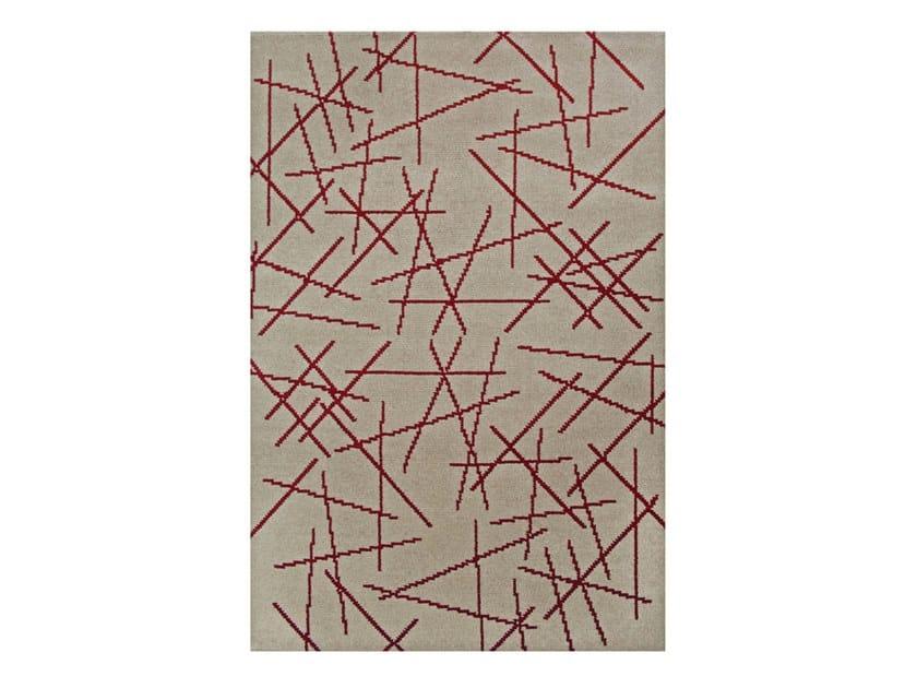 Handmade rectangular wool rug POLANSKI | Rug by Essential Home