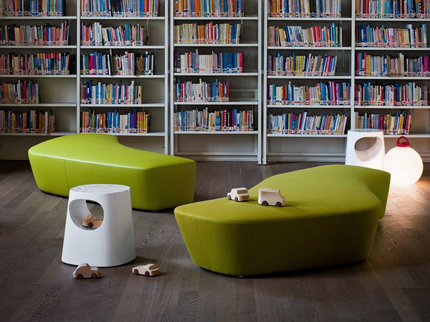 Fabric sofa / pouf POLAR | Pouf by Tacchini
