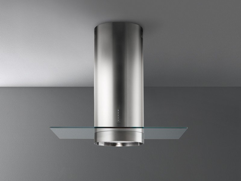 Wall-mounted stainless steel cooker hood with integrated lighting POLAR by Falmec