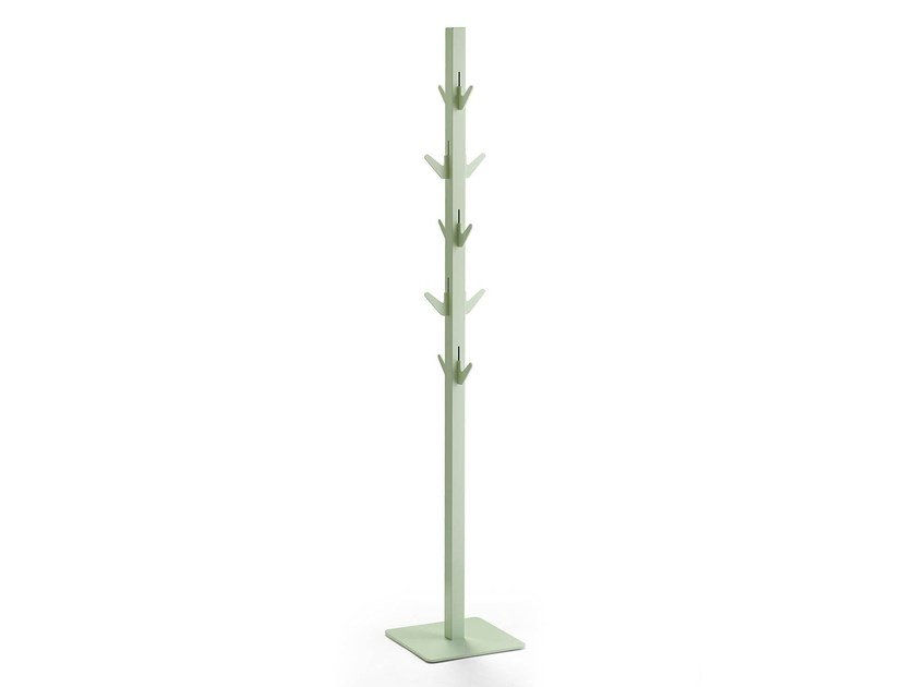 Powder coated steel coat stand POLEHANGER by rosconi