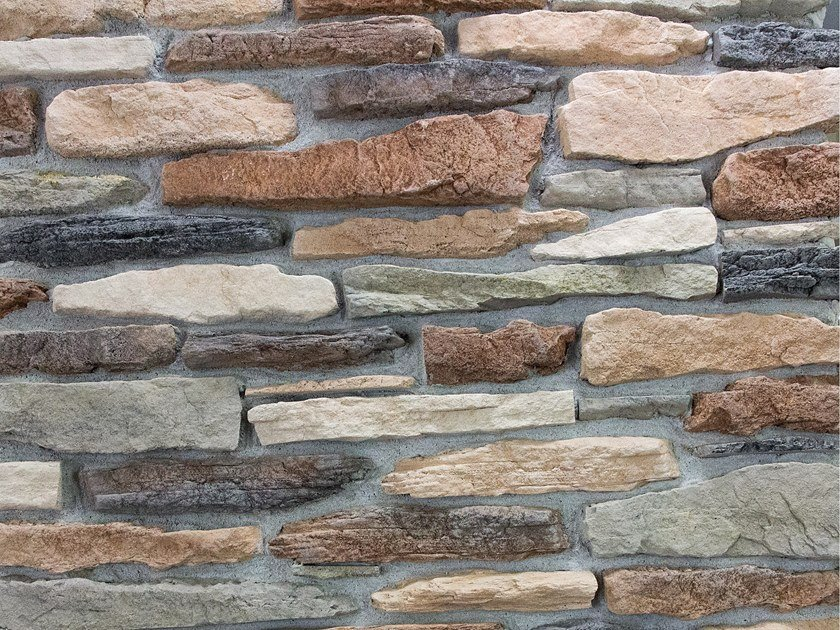 Reconstructed stone wall tiles POLLINO by Decor