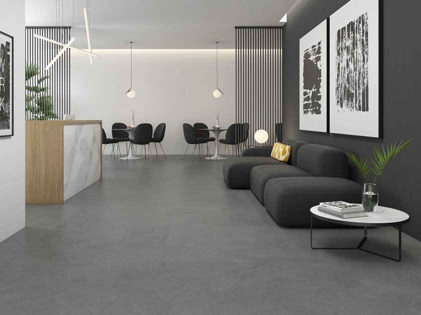 Porcelain stoneware wall/floor tiles with concrete effect POLLOCK by ITT Ceramic