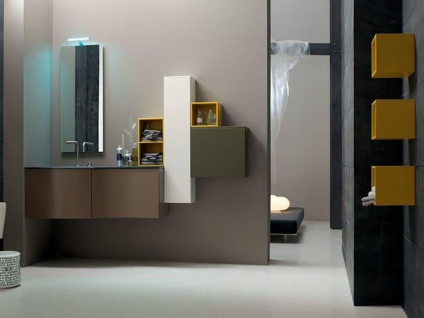 Sistema bagno componibile POLLOCK - COMPOSIZIONE 39 by Arcom