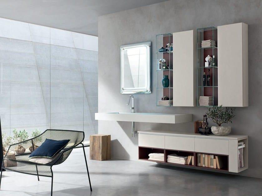Washbasin countertop / bathroom cabinet POLLOCK YAPO - COMPOSITION 47 by Arcom