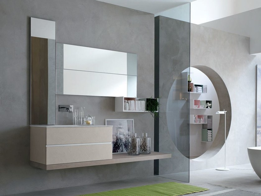 Bathroom cabinet / vanity unit POLLOCK YAPO - COMPOSITION 48 by Arcom