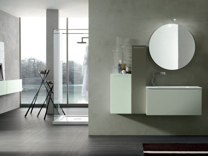 Bathroom cabinet / vanity unit POLLOCK YAPO - COMPOSITION 32B by Arcom