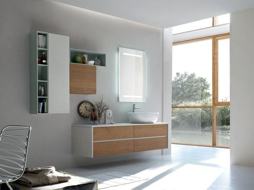Bathroom cabinet / vanity unit POLLOCK YAPO - COMPOSITION 43 by Arcom
