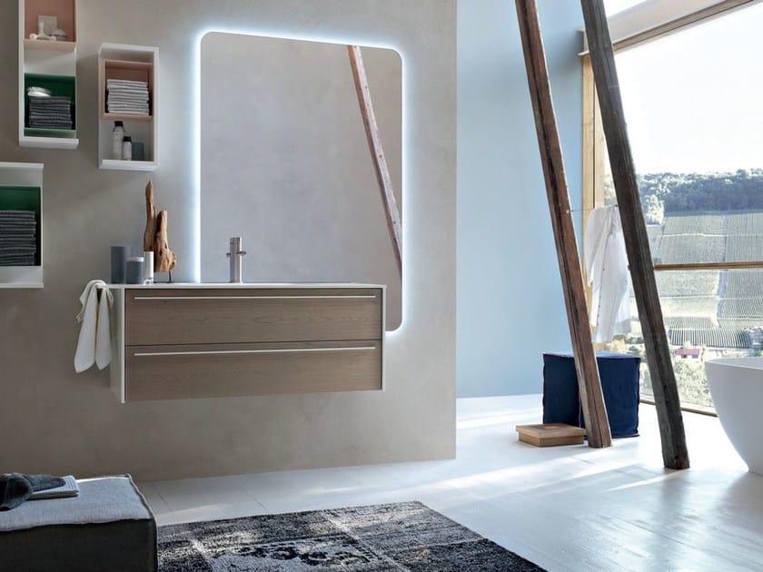 Bathroom cabinet / vanity unit POLLOCK YAPO - COMPOSITION 45 by Arcom