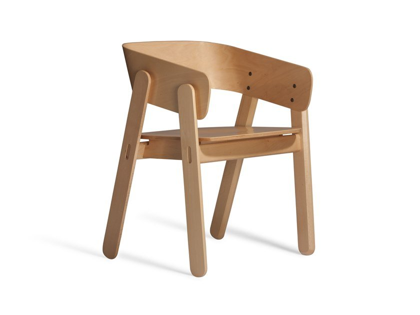 Beech chair with armrests POLO 515M by Capdell