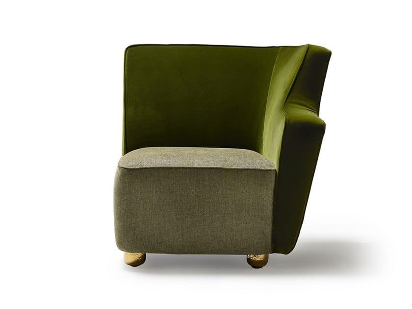 Corner fabric armchair BAIA LF by MARIONI