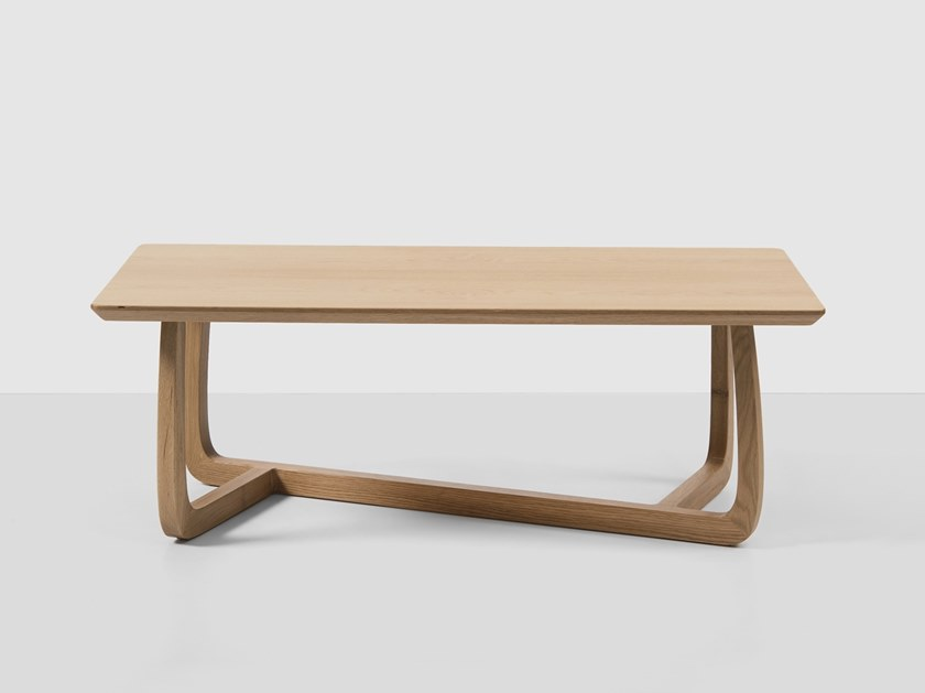 Rectangular oak coffee table POLY | Rectangular coffee table by Hemonides