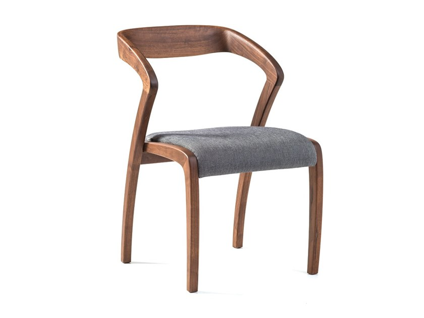 Walnut chair with armrests POLY   Walnut chair by Hemonides