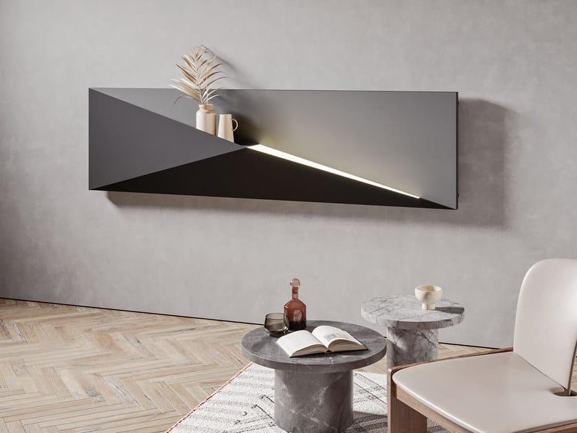 Electric horizontal wall-mounted metal radiator POLYGON | Horizontal radiator by IRSAP