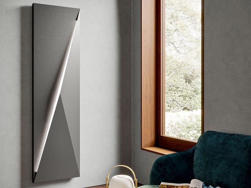 Radiatore elettrico verticale in metallo a parete POLYGON | Radiatore verticale by IRSAP