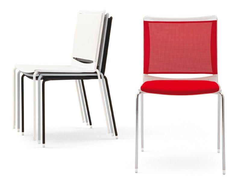 Chair 4 legs S'MESH SOFT | Polypropylene chair by Diemmebi