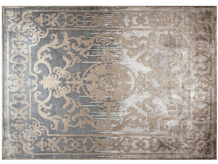Patterned handmade custom wool rug POMPADOUR SHADOW by EDITION BOUGAINVILLE