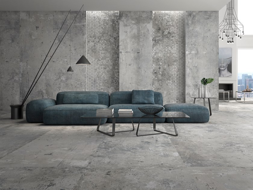 Sintered ceramic wall/floor tiles with concrete effect POMPEIA by ITT Ceramic