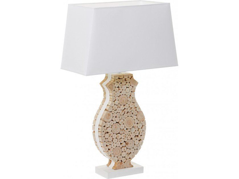 Wooden table lamp PONDICHERY by Flam & Luce