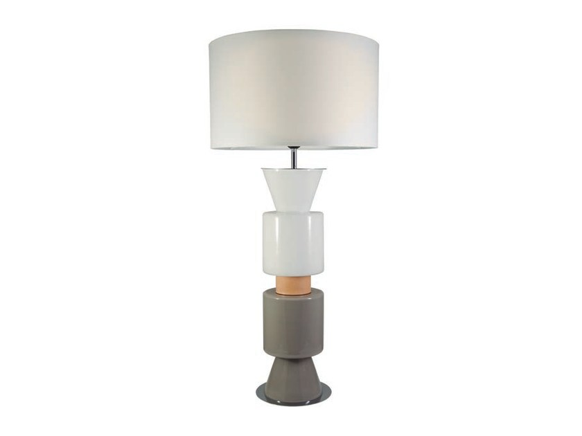 Stained glass table lamp with fixed arm PONN PONN by Aromas del Campo