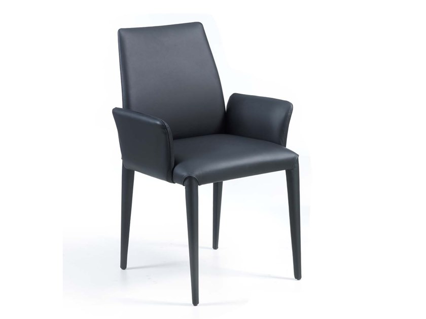 Upholstered chair with armrests PONZANO | Chair with armrests by Trevisan Asolo