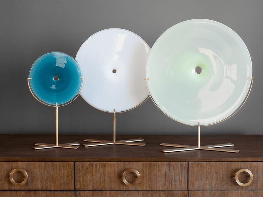 Blown glass decorative object POOL OBJECT (BRASS) by SkLO