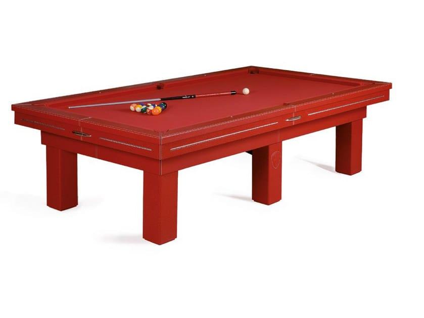 Rectangular leather pool table TOURING | Pool table by Tonino Lamborghini Casa