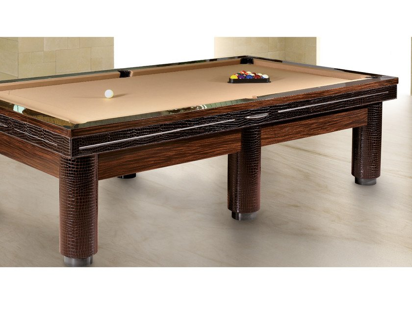 Rectangular wood veneer pool table PLAYING A'ROUND by Tonino Lamborghini Casa