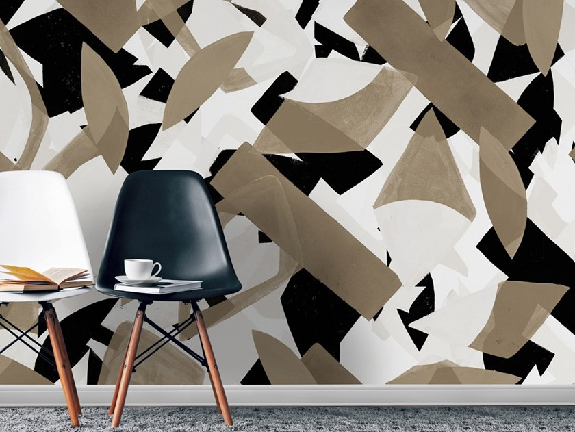 Industrial style Ecological washable PVC free wallpaper POP AGANDA by Wallpepper