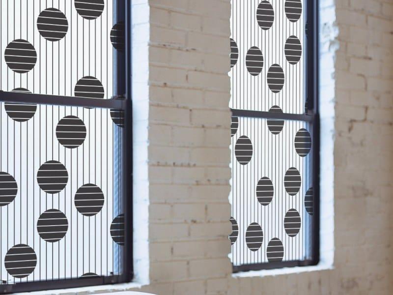 Adhesive decorative window film POP LINES by ACTE-DECO